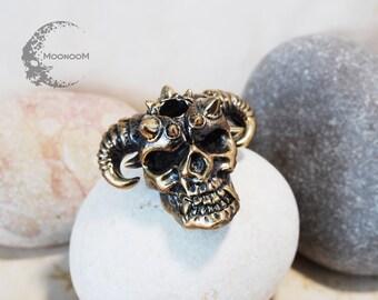 Demon Skull Lanyard Bead PB-014