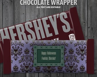 The Haunted Mansion Chocolate Bar Wrapper