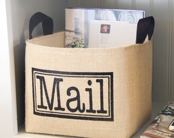Mail Jute Storage Basket