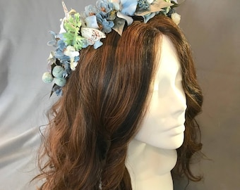 Festival Crown, Flower Crown, Wedding Wreath, Flower Hair Wreath, Coachella Crown, Flower Crown, Boho Headpiece, Festival Headpiece