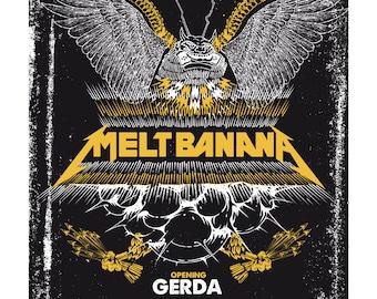 Melt Banana + Gerda Gig Poster
