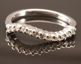 Wavey Diamond Ring