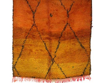 "Vintage Boujad Rug, Boujad, Boujaad, Vintage Moroccan Rug, 4'3"" x 4'3"" feet / 130 x 130 cm. S-642"