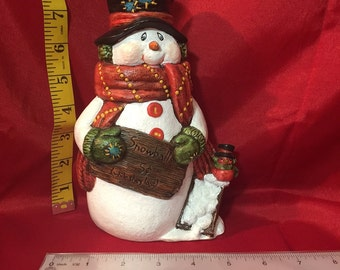 Ceramic Snowball Salesman