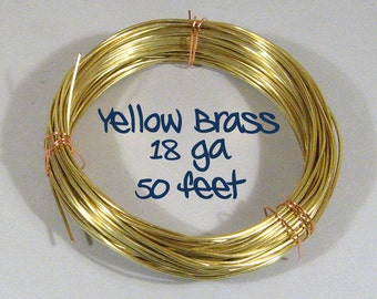18ga 50ft DS Yellow Brass Wire