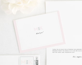 Modern Initials Thank You Cards
