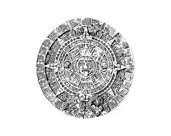 MAYAN CALENDAR - Aztec -CLiNG rubber stamp by Cherry Pie R591