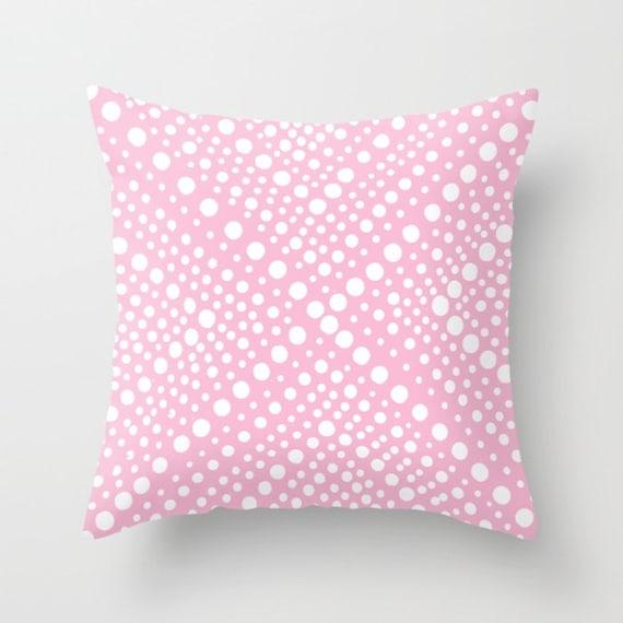 OUTDOOR Throw Pillow . Pink Outdoor Pillow . White Modern Geometric X Dot . 16 18 20 inch Pink Throw Pillow . Pink Rectangle Pillow Outside