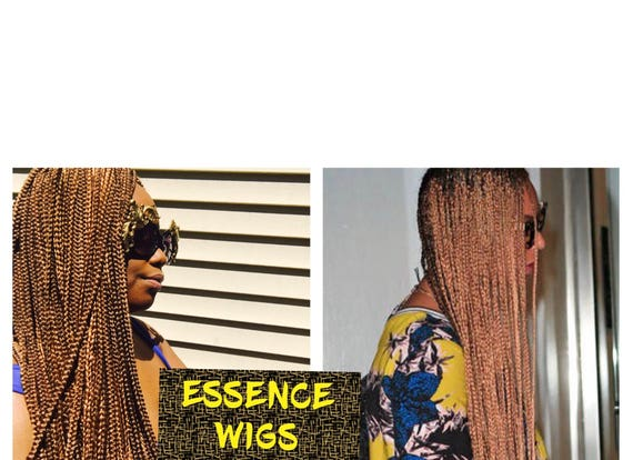 """Essence Wigs """"Yonce"""" Golden Brown X-Long Box Braids Crochet Wig Beyonce braids"""