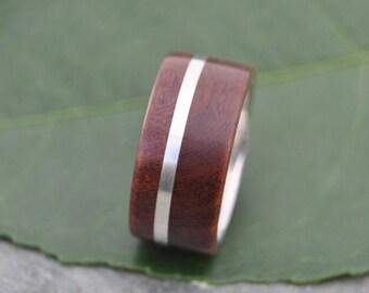 Size 8.75 10mm READY TO SHIP Solsticio Nacascolo Wood Ring - ecofriendly wood wedding band, mens wedding band, wood wedding ring