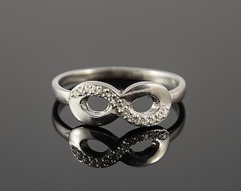 Infinty ring, Silver infinity ring, Promise ring, Forever ring, Romatic gift, Romatic ring, Gift for wife, Promise ring gift