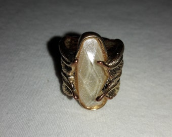 Hinged Gold Plated Adjustable Vintage Ring