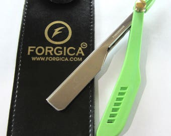 Straight Edge Razors Green Handle