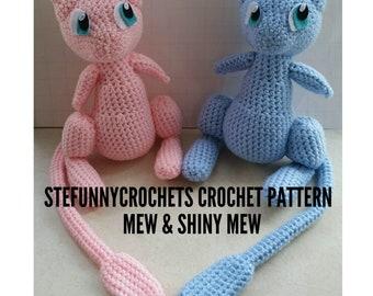 Crochet Mew and Shiny Mew Pattern, Crochet Pattern, Pokemon Crochet Pattern, Pokemon Pattern, Mew Pattern, Shiny Mew Pattern. Plush Pattern