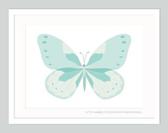 Nursery Butterfly Art | Pastel Kids Room Decor