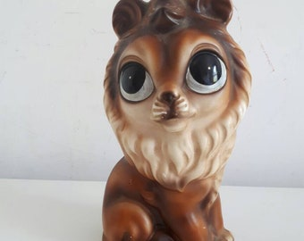 Vintage Big Eyed Lion Money Box
