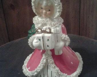 Christmas Lady Planter
