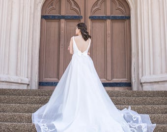 Cathedral Detachable Bridal Train, Detachable Train for Wedding Dress, Custom Detachable Train, Detachable Wedding Train. #T01