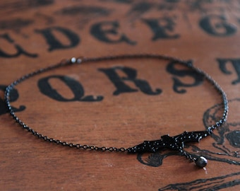 SALE 30% off-Black bat necklace