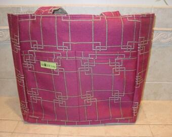 Large Reversible Upholstery Totebag