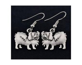 Pekingese Charm Earrings