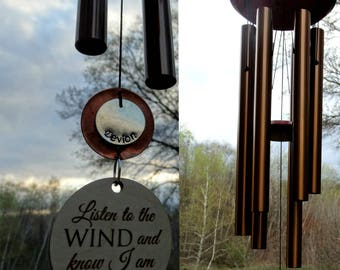 Memorial Wind Chime Chimes In Memory Of loved one Memorial Garden Gift After Loss Wind Chime Loved Memorial COPPER