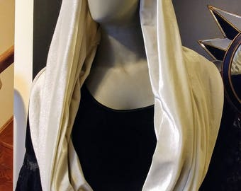 Large White Sparkle Festival Infinity Scarf