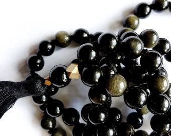 SPECIAL Obsidian mala