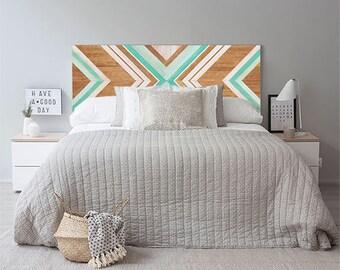 Headboard, Furniture, Reclaimed Wood Wall Art, Geometric Wall Art, Wood Wall Art