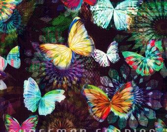 Hoffman - Crystalia - Digital Print Butterfly - Onyx - Fabric by the Yard N4240-213