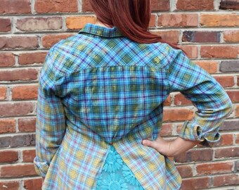 Original Up-Cycled Plaid Flannel