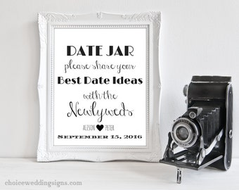 Date Jar Sign For Your DIY Wedding - PDF + JPEG In All Sizes (4x6, 5x7, 8x10, 11x14, 16x20, 18x24, 24x36, A5, A4, A3, A2, A1, A0, Custom)