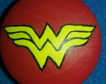 Wonder Woman handpainted dresser knob