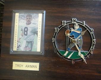 Troy Aikman Clock Plaque