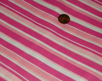 Pink and White Silky Jersey Knit Fabric Perfec for a Dress, Blouse  Sold by the Yard
