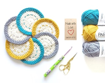 Crocheted Coasters (set of 6)