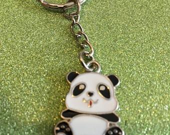 Cute panda keyring with free panda gift box