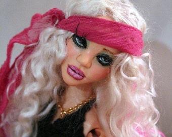 DOLL HAIR / Blond Mohair / combed Natural Platinum Blond / Champion fiber / No fragrance / Reborn / Blythe / Reroot / Wig / BJD