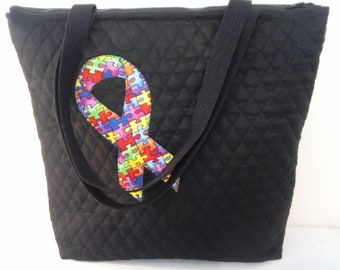New Autism Tote with Zipper