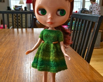 Blythe Delilah Dress Knitting Pattern PDF Knit