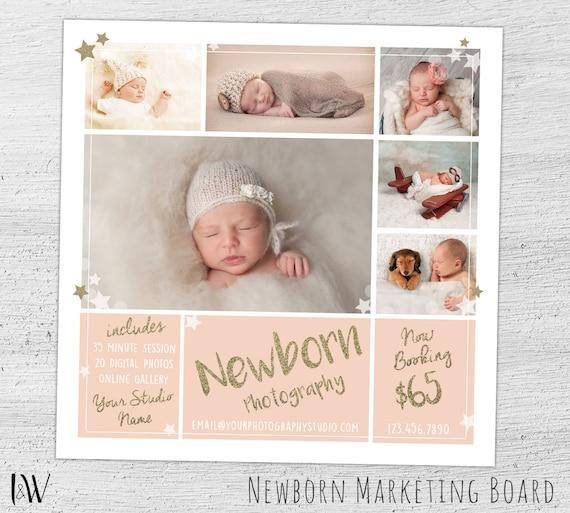 Newborn photography marketing board newborn mini session