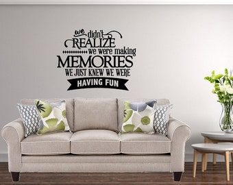 Family Wall Decal / Living Room Decal / Family Decal / Dining Room Decal /  Family
