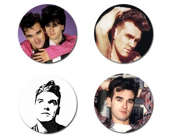 SET OF 4 Morrissey / The Smiths Button Badges 25mm (1 inch)