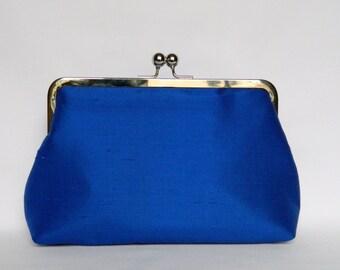 Cobalt Blue Clutch, Silk Clutch, Bridal Clutch, Cobalt Blue Wedding Clutch, Bridesmaids set, Bridesmaids Clutch, Cobalt Blue Evening Clutch