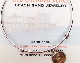 Old Orchard Beach Sand Jewelry, Maine Sand Jewelry, Sand Bracelet, Bohemian Inspired Accessories, Travel Gift, Souvenir, Special Keepsake