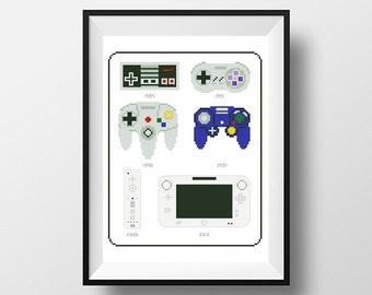 PDF - Nintendo Controller History Cross Stitch Pattern