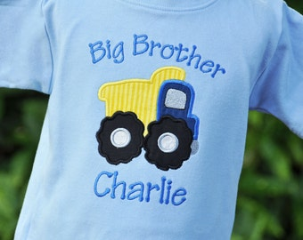Personalized Dump Truck Big Brother Shirt