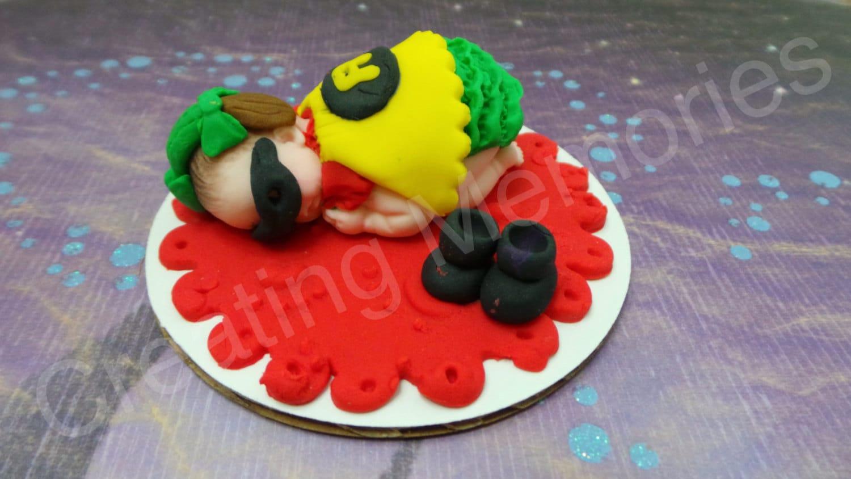 Robin Girl Baby Edible Superbaby Cake Topper Fondant Girl