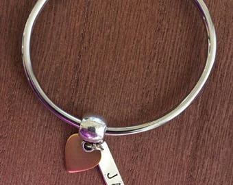 Customized Bracelet, Personalized Charm Bracelet, Personalized bracelet