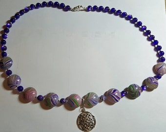 Purple Celtic Necklace